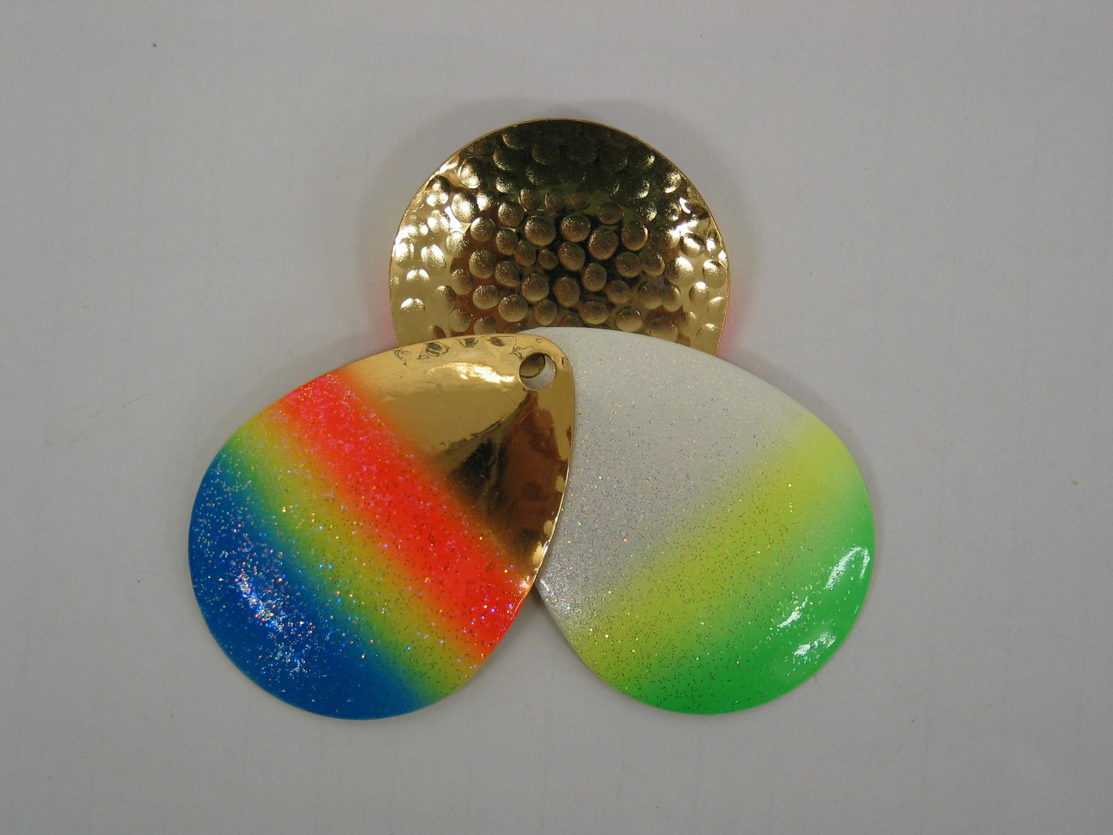 3 Color Hammered Inside Deep Cup Rainbow Colorado Blades